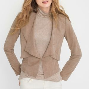 White House Black Market Nude Suede Jacket XS